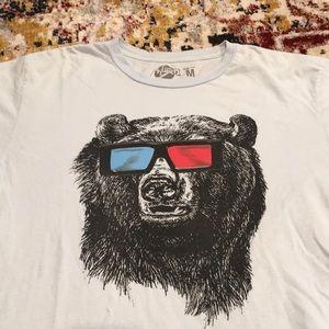 Other - Men's Cotton T-shirt Bear 3D glasses Size Medium
